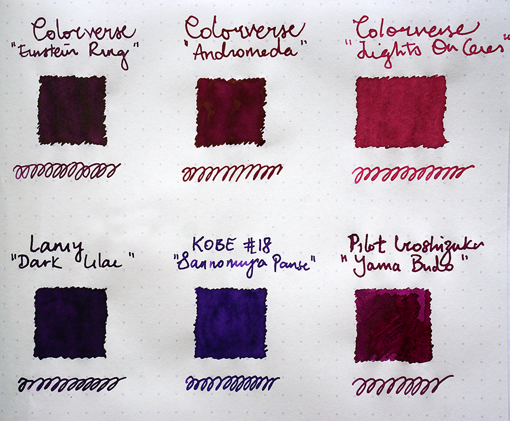 colorverse ink purple ink comparison