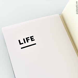 Jibun LIFE notebook